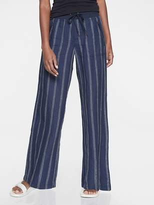 Athleta Cabo Tide Linen Wide Leg Pant