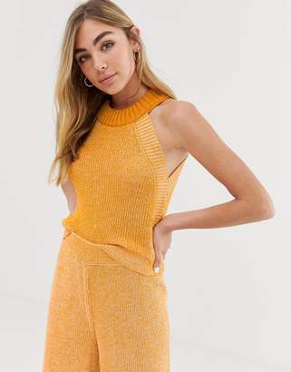 Asos Design DESIGN co-ord twist yarn halter neck tank
