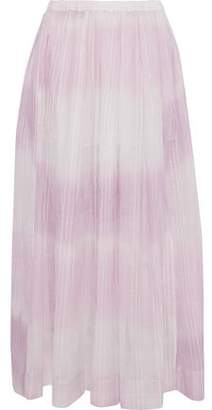 Lemlem Berhan Embroidered Degrade Cotton-gauze Maxi Skirt