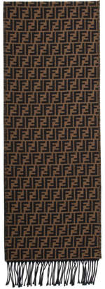 Fendi Brown and Black Forever Scarf