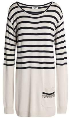 DAY Birger et Mikkelsen Crystal-Embellished Striped Knitted Mini Dress