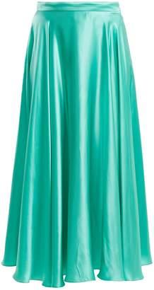 Gucci Crinkled silk-blend skirt