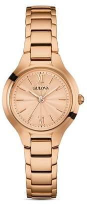 Bulova Classic Rose Gold-Tone Watch, 28mm