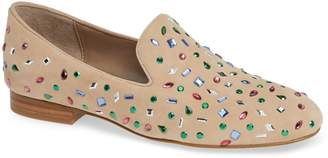 Donald J Pliner Lana Crystal Embellished Loafer