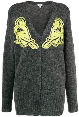 Kenzo crochet detail cardigan