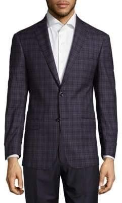 Michael Kors Checkered Wool Sport Coat