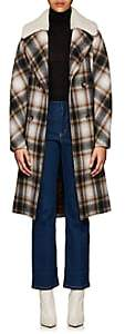 Martin Grant Women's Shearling-Collar Wool Felt Coat - Brown