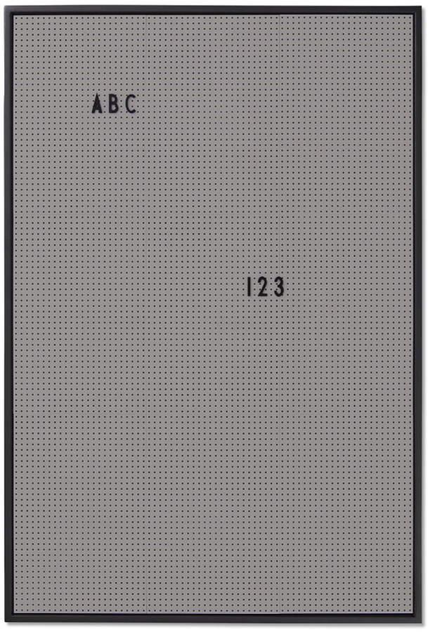 Design Letters - Message Board A2, Dunkelgrau