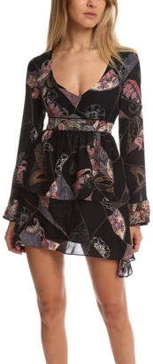 Elizabeth and James Lilou Patchwork Print Dress