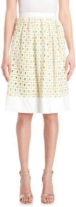 Moschino Crochet Lemon Print Skirt