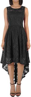 H HIAMIGOS Women's Vintage Floral Lace Cocktail Formal Party High Low Dress XXL