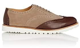 Emporio Armani Men's Suede & Leather Wingtip Balmorals-Sand, Brn Size 8 M