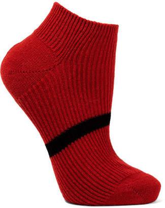 Maria La Rosa Striped Cashmere Socks - Red
