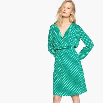Vila Polka Dot Shirt Dress with Long Sleeves