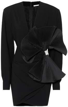 Alessandra Rich Embellished wool-blend minidress