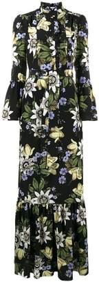 Erdem Stephanie floral print ruffle dress