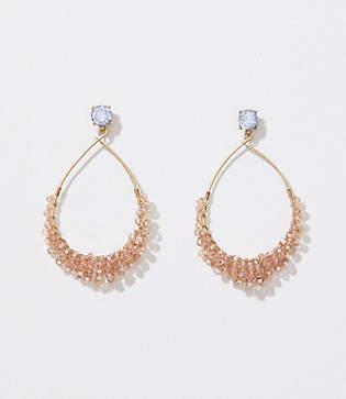 LOFT Crystal Beaded Drop Earrings