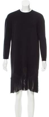 Timo Weiland Fringe-Trimmed Wool Dress