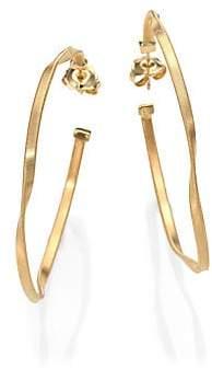 """Marco Bicego Women's Marrakech 18K Yellow Gold Twisted Hoop Earrings/2"""""""