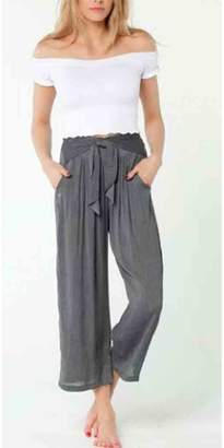 Lucy-Love Lucy Love Tie-Front Palazzo Pant