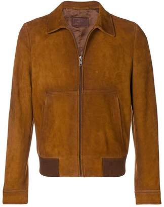 Prada suede zipped jacket