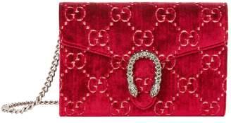 Gucci Velvet Dionysus GG Wallet Bag