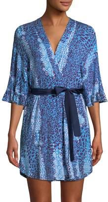 Josie Women's Printed V-neck Wrap