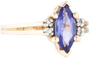 Le Vian 14K Tanzanite & Diamond Ring $325 thestylecure.com