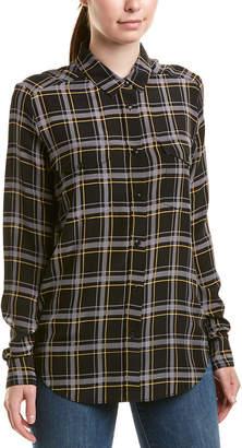 The Kooples Plaid Silk Shirt