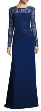 St. John Floral Lace Gown $2,295 thestylecure.com
