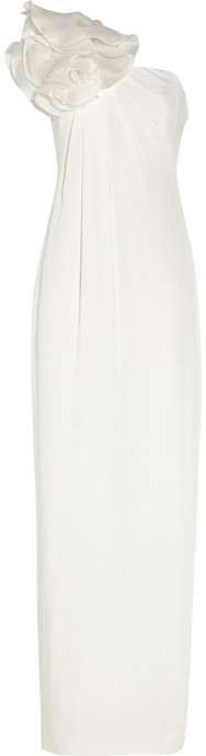 Notte by Marchesa Silk-crepe column gown