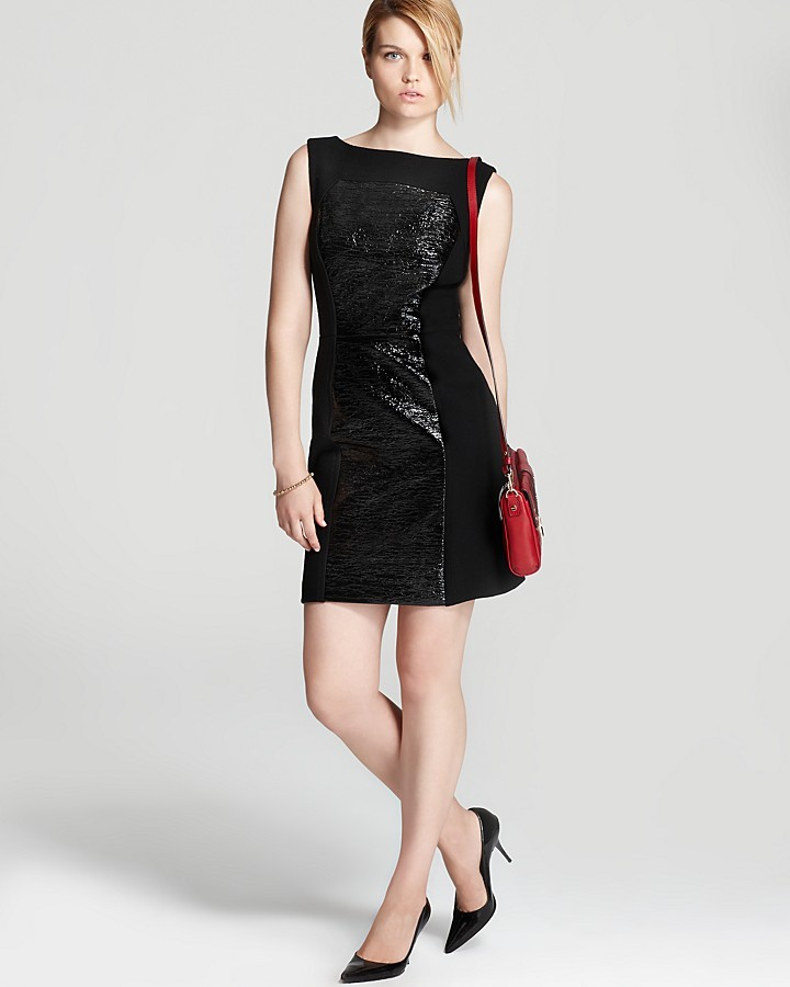 Milly Faux Leather Dress - Nina Crinkle