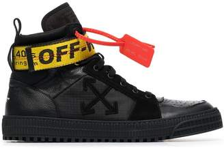 Off-White Black Industrial Hi Top Leather Trainers