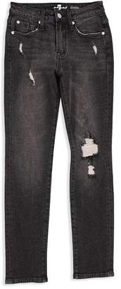 7 For All Mankind Boys' Distressed Paxtyn Jeans in Eclipse - Big Kid