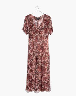 Madewell Karen Walker Silk Romanticism Print Dress