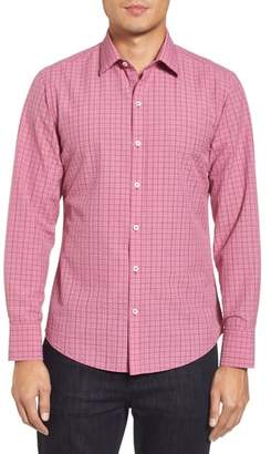 Zachary Prell Italo Seersucker Woven Sport Shirt