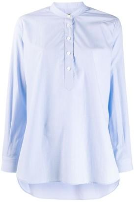 Joseph flared long-sleeve shirt