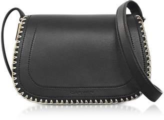 Carven Mazarine Black Leather Crossbody Bag