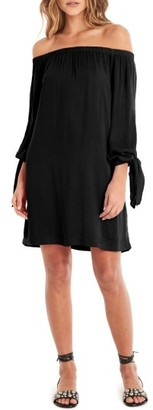 Women's Michael Stars Tie Cuff Off The Shoulder Dress $148 thestylecure.com