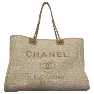 Chanel Deauville tweed tote