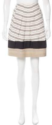 Gunex Striped Pleated Skirt