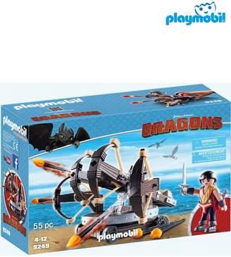Next Boys Playmobil DreamWorks Dragons Eret With 4 Shot Firing Ballista