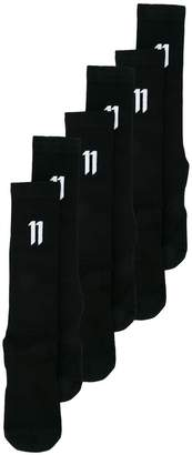 11 By Boris Bidjan Saberi three pairs logo socks