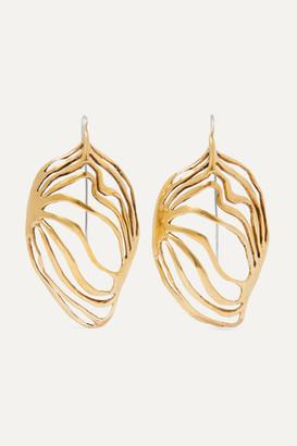 Ariana Boussard-Reifel - Monarch Gold-tone Earrings