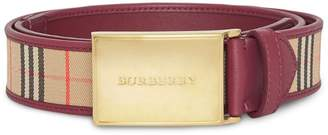 Burberry 1983 Check plaque buckle belt
