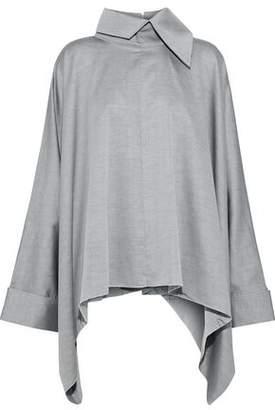 Marques Almeida Marques' Almeida Oversized Draped Cotton-Twill Shirt