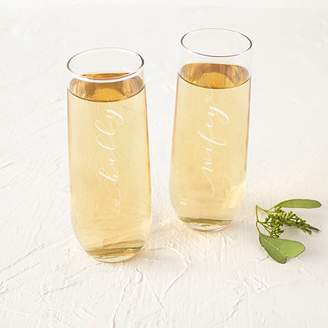 Cathy's Concepts Cathys Concepts 2-pc. Hubby & Wifey Stemless Champagne Flute Set