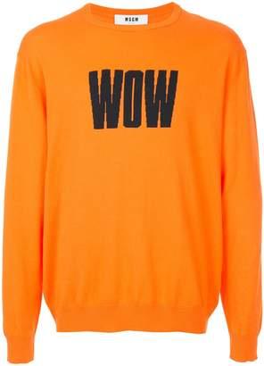 MSGM Wow print T-shirt