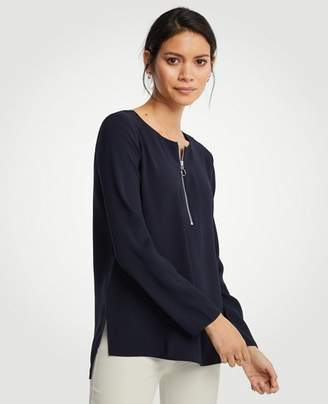 Ann Taylor Tall Step Hem Zip Tunic