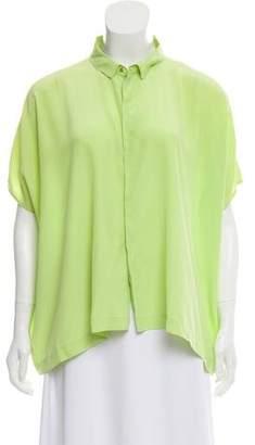 14270429 Diane von Furstenberg Silk Draped Blouse